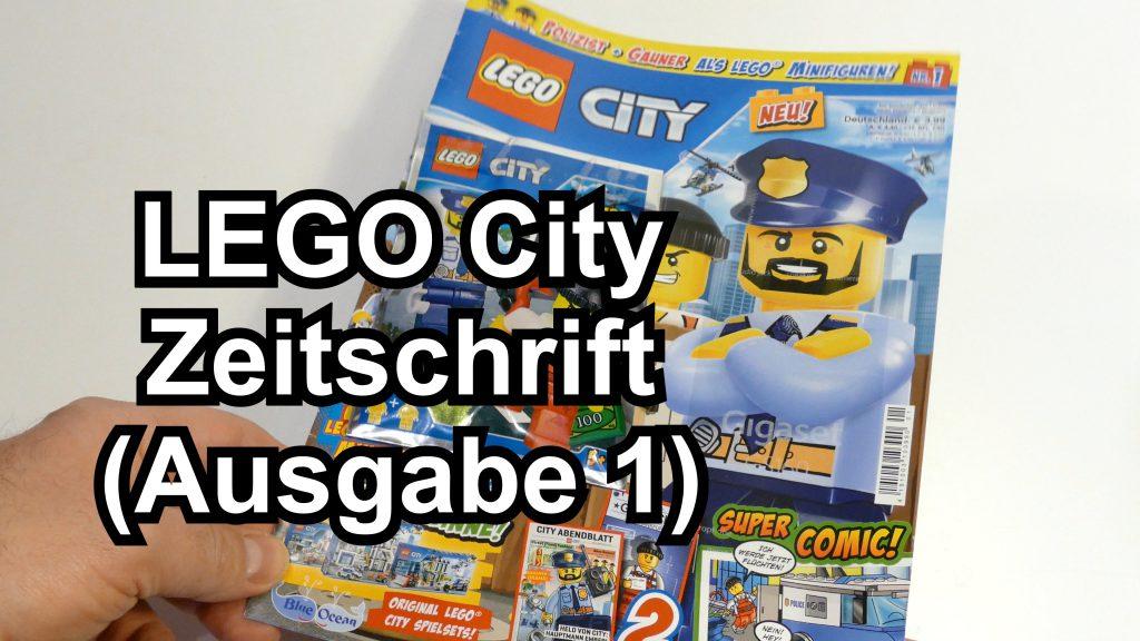 lego city magazin ausgabe 1 mit zwei minifiguren. Black Bedroom Furniture Sets. Home Design Ideas